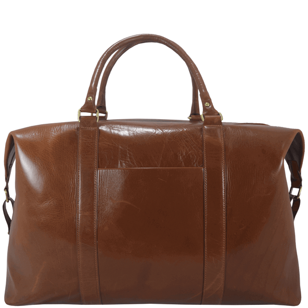 'CANNON' - Tan Vintage Leather Large Weekender Bag