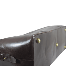 'CANNON' - Dark Brown Vintage Leather Large Weekender Bag