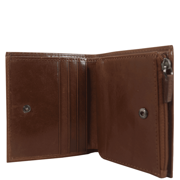 'CADE' Tan Vintage Leather RFID Blocking Wallet