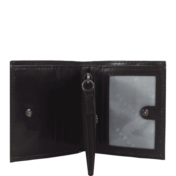 'CADE' - Dark Brown Vintage Leather RFID Blocking Wallet