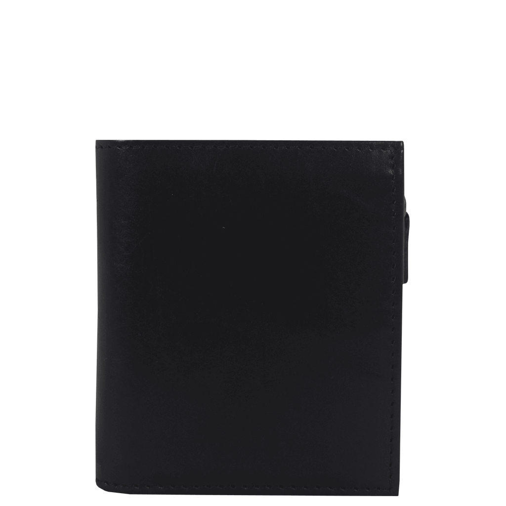 'CADE' - Black Vintage Leather Wallet