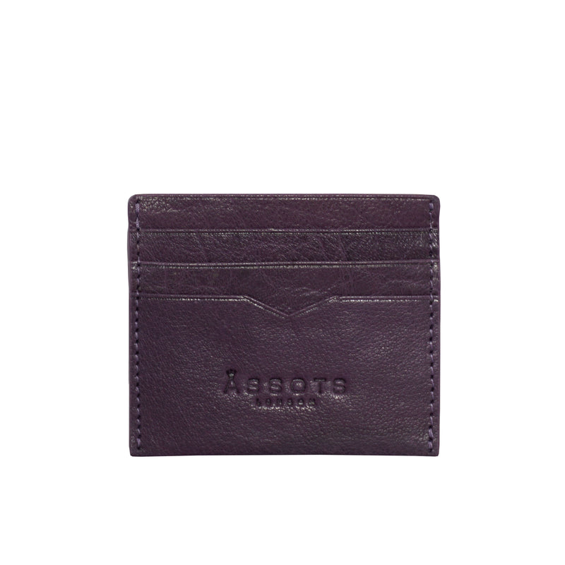 'FANN' Blackberry Vintage leather Compact RFID Credit Card Holder