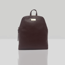 'BELLA' Burgundy Mini Leather Lightweight Backpack