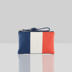 'FRENCH' - Country Flag Designer Leather Clutch Purse