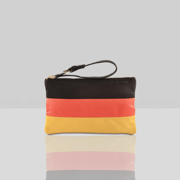 'GERMAN' Country Flag Designer Leather Wristlet