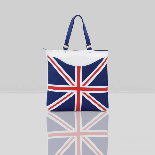 'OASIS' Union Jack Designer Leather Large Tote Bag