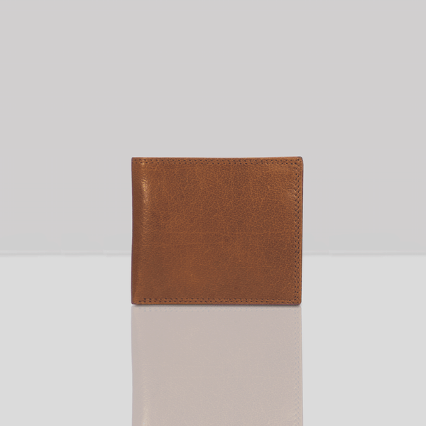 'BENNETT' Tan Bifold Vintage Leather RFID Blocking Wallet