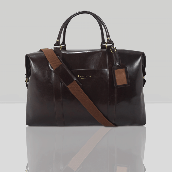 'CANNON' Dark Brown Vintage Leather Holdall
