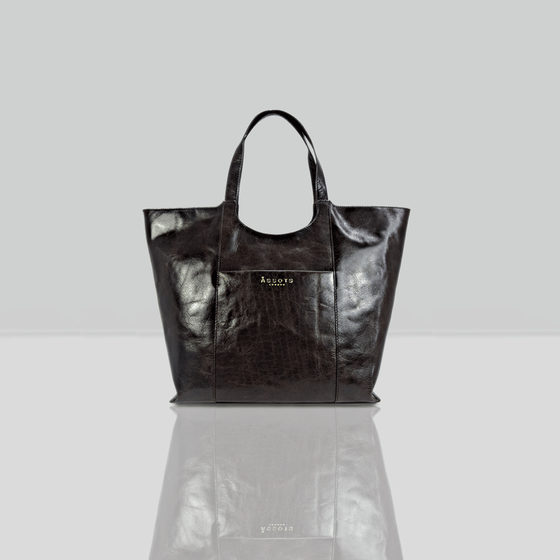 'REGENT' Brown Vintage Vegetable tanned Leather Tote Bag