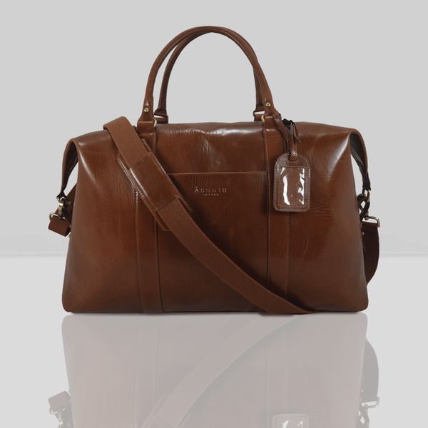 'CANNON' Tan Vintage Leather Holdall