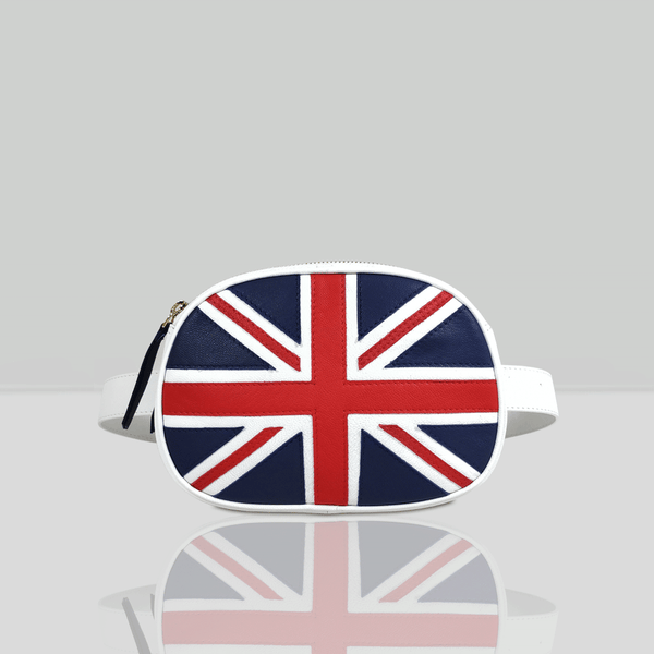 'WILSON' - Union Jack Designer Leather Bum Bag
