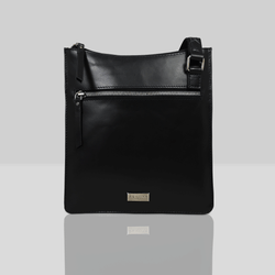 'WILLOW' Navy Smooth Leather Crossbody Bag