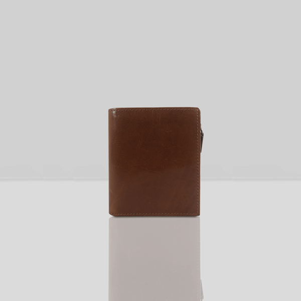 'CADE' - Tan Vintage Leather RFID Blocking Wallet
