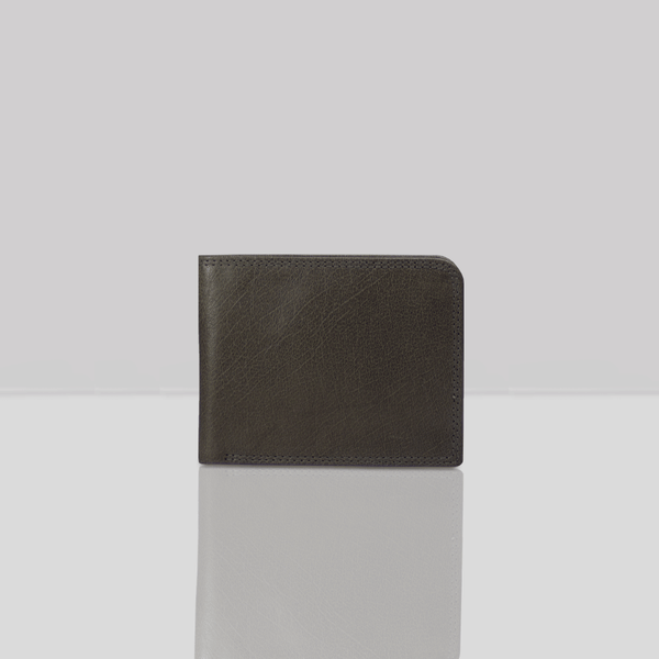 'DOUGLAS' Grey Trifold Vintage Leather RFID Blocking Wallet