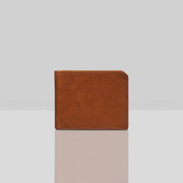 'DOUGLAS' Tan Trifold Vintage Leather RFID Blocking Wallet