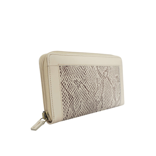 'Heidi' Nude Animal Snake Print Real Leather Designer Ladies Purse