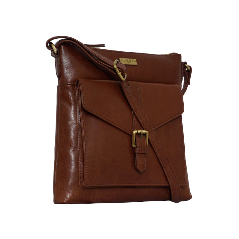 'HOXTON' Brown Vintage Leather Crossbody Shoulder Sling Bag