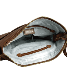'HOXTON' - Tan Vintage Leather Crossbody Shoulder Sling Bag