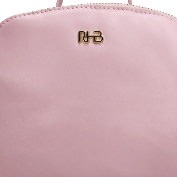 'ISABELLA' - Baby Pink Lightweight Luxurious Baby Changing/Diaper Leather Backpack