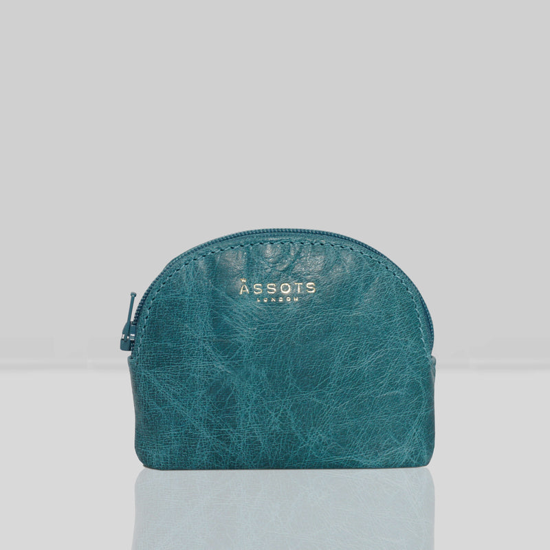 'LOTTY' Ocean Blue Soft Small Leather Coin Pouch