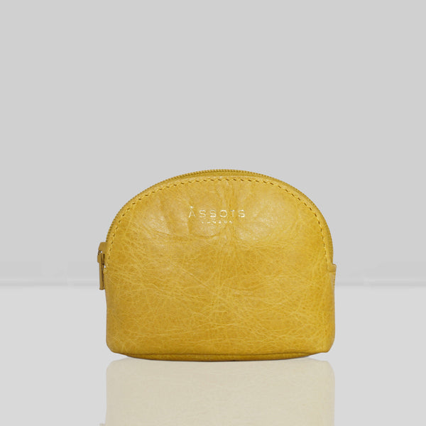 'LOTTY' Yellow Soft Small Leather Coin Pouch