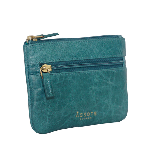 'MARY' Ocean Blue Soft Small Leather Coin Purse