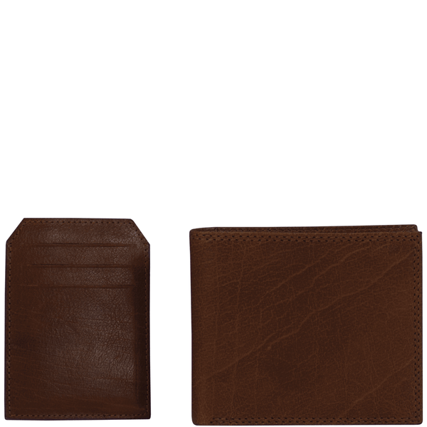 'BENNETT' - Cognac Bifold Vintage Leather RFID Blocking Wallet