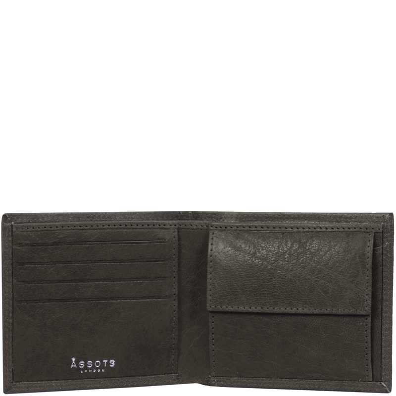 'BENNETT' - Grey Bifold Vintage Leather RFID Blocking Wallet