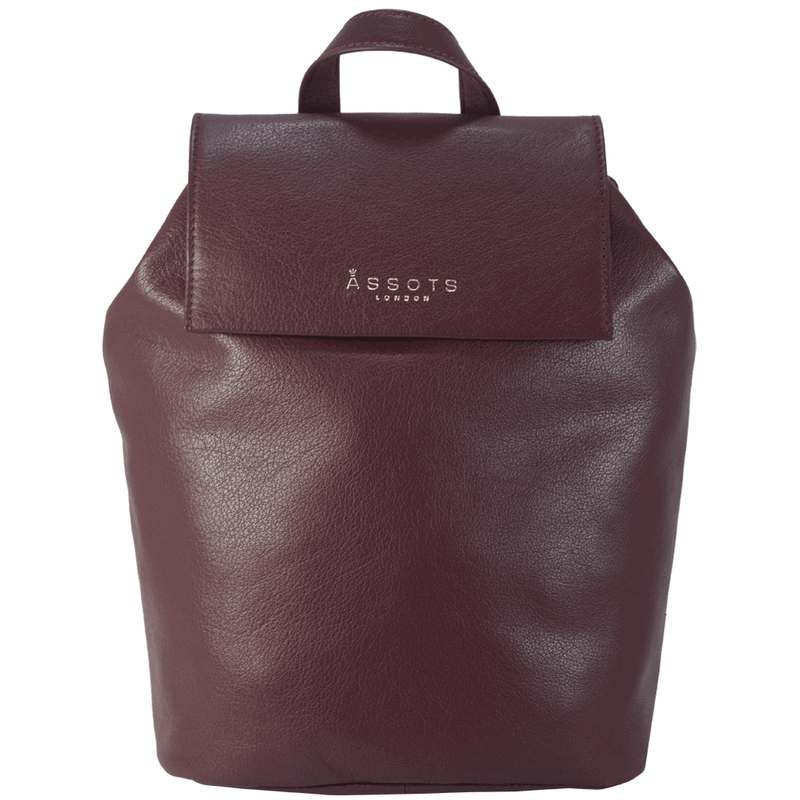 'JERMYN' Classic Burgundy Full Grain Leather Flap-over Backpack