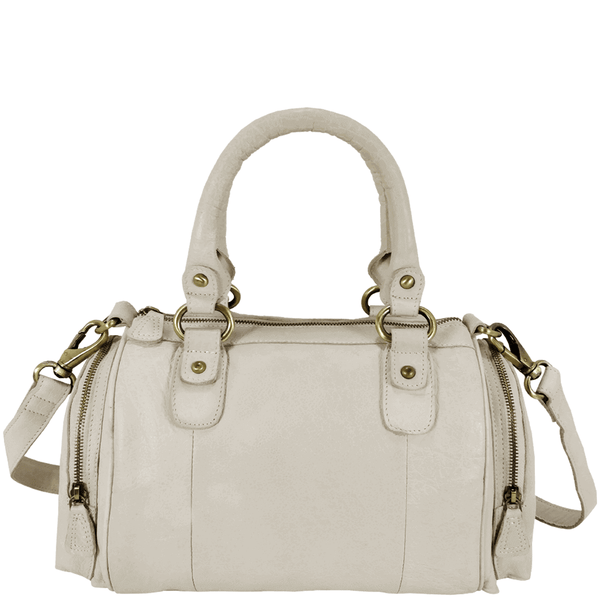 'KRISTEN' - Nude Vintage Leather Bowling Bag