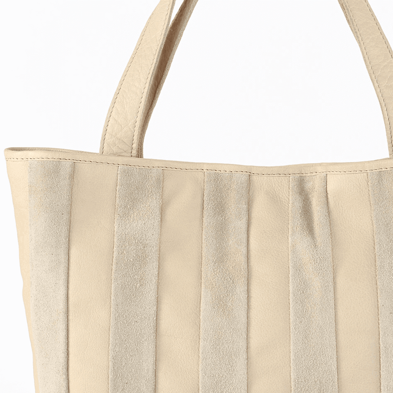 'CAMBRIDGE' - Nude Designer Leather Tote Bag