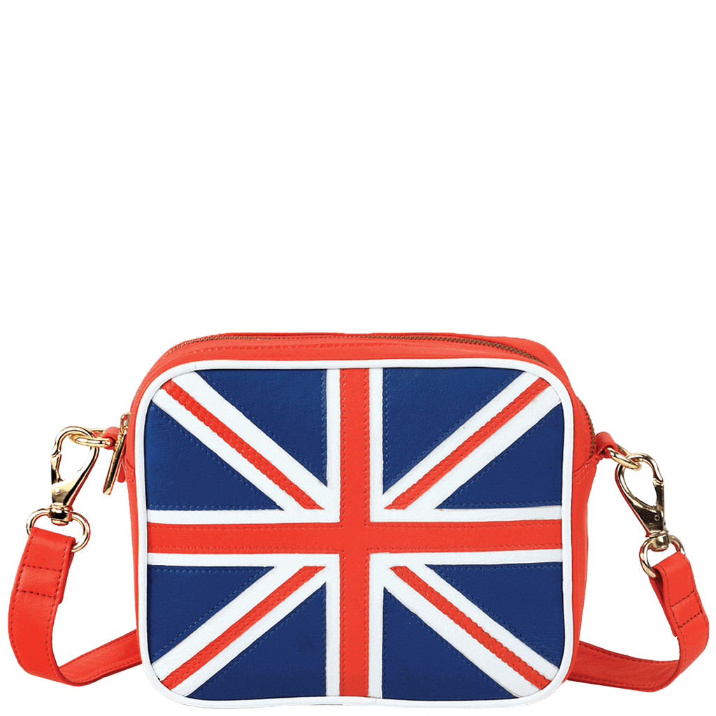 'CROSS' - Union Jack Designer Leather Cross Body Flight Bag