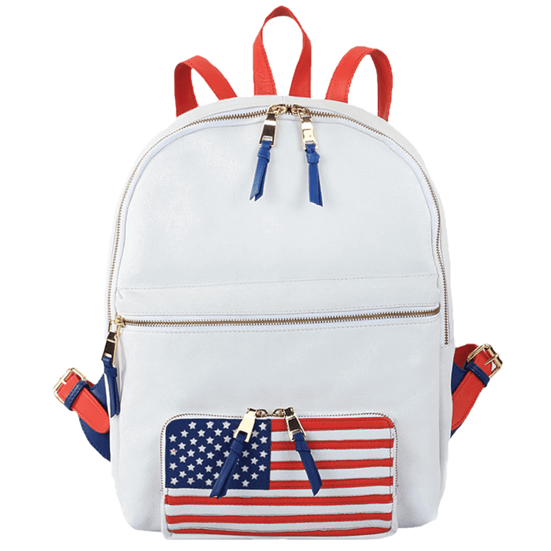 'WASHINGTON' White Designer Full Grain Leather Laptop Backpack