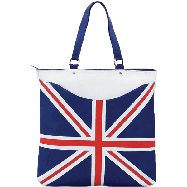 'OASIS' - Union Jack Designer Leather Large Tote Bag