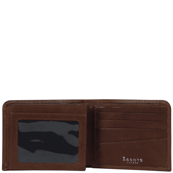 'DOUGLAS' - Cognac Trifold Vintage Leather RFID Blocking Wallet