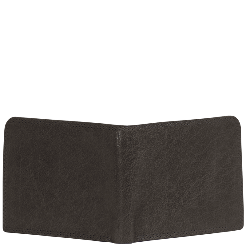'DOUGLAS' - Grey Trifold Vintage Leather RFID Blocking Wallet