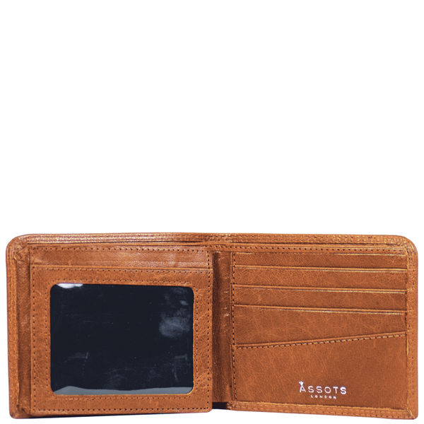 'DOUGLAS' - Tan Trifold Vintage Leather RFID Blocking Wallet