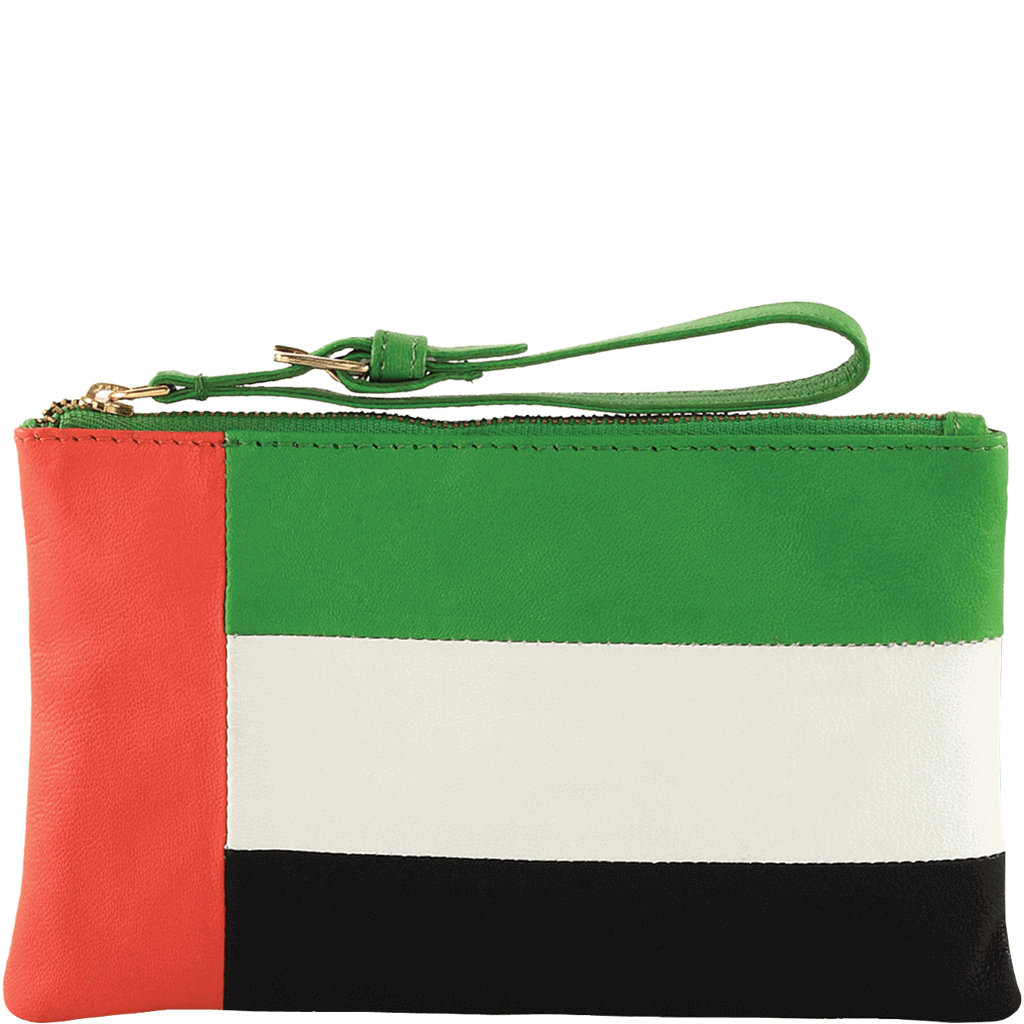 'ARABIAN' - Country Flag Designer Leather Clutch Purse