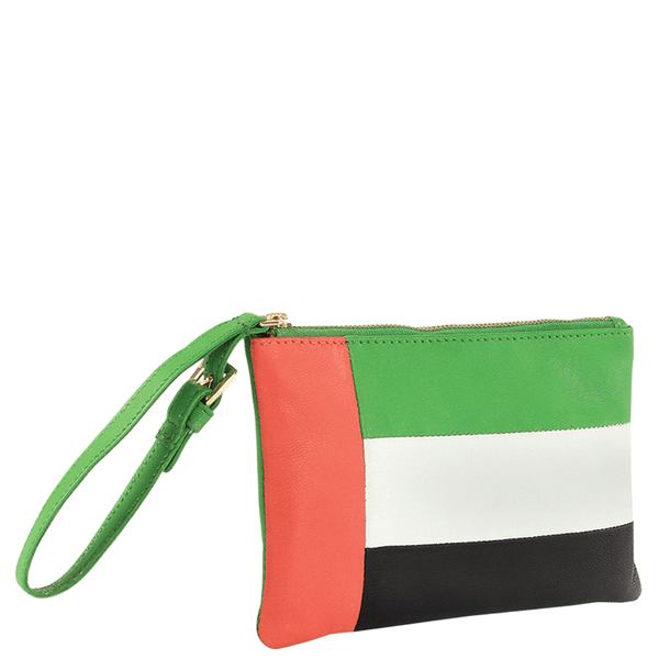'ARABIAN' Country Flag Designer Leather Wristlet
