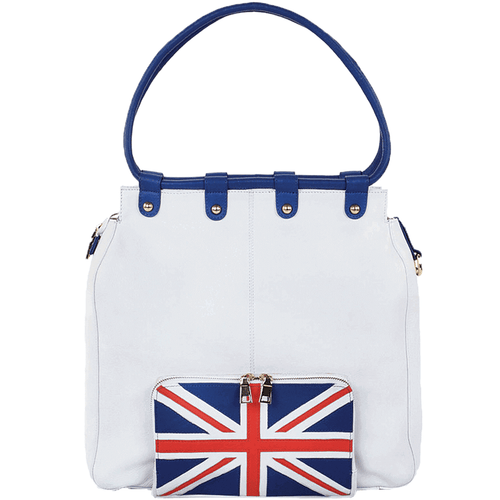 'PARADISE' - Union Jack Full Grain Large Tote Bag