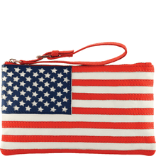 'UNITED STATES' - Country Flag Designer Leather Clutch Purse
