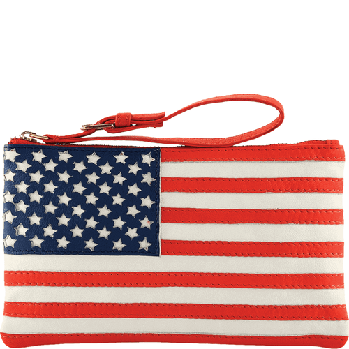 'UNITED STATES' - Country Flag Full Grain Clutch Purse
