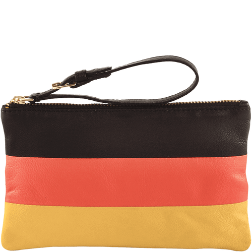 'GERMAN' - Country Flag Full Grain Clutch Purse
