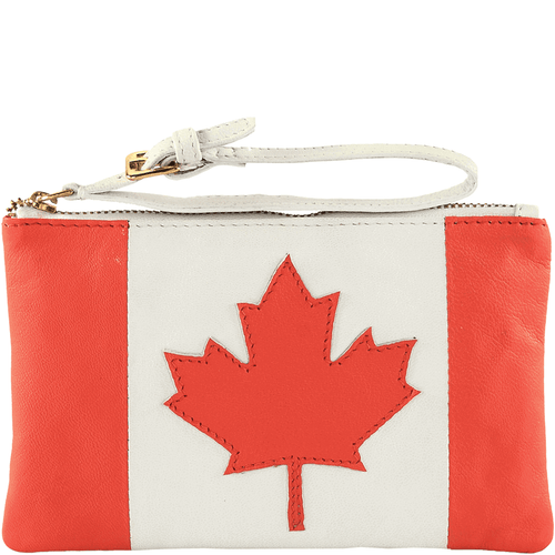 'CANADIAN' - Country Flag Full Grain Clutch Purse