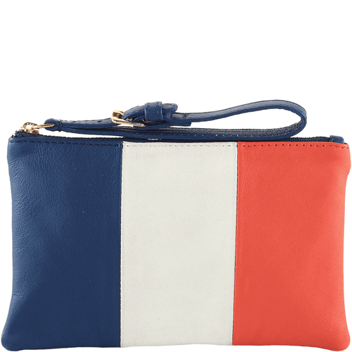 'FRENCH' - Country Flag Full Grain Clutch Purse