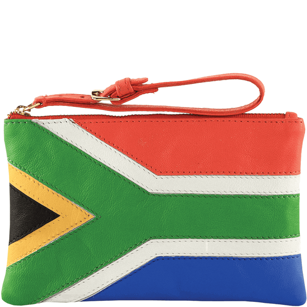'S. AFRICAN' - Country Flag Designer Leather Clutch Purse