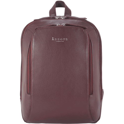 'BAKER' - Classic Burgundy Large Full Grain Backpack