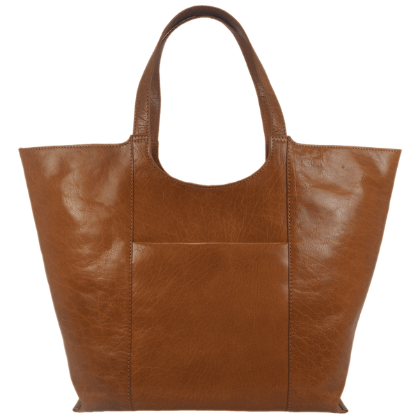 'REGENT' - Tan Vintage Vegetable tanned Leather Tote Bag