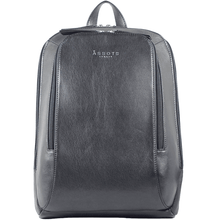 'BAKER' - Black Vintage Leather Large Backpack