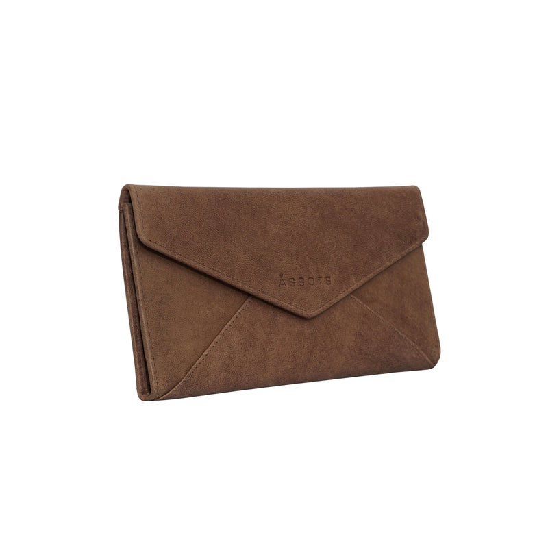 'PRESTON' Vintage Brown Trifold Leather Purse